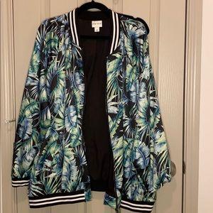 Ava and Viv leafy track jacket